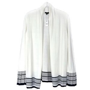 Talbots pleated sleeves open front cardigan. Sz S